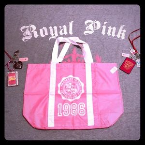 💕PINK VS Vintage Prop. Of The UP Tote NWT💕